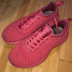 APL techloom phantom sneakers size 8.5 pink